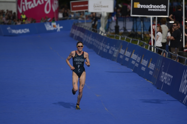 Gwen Jorgensen - ITU World Triathlon - London Winner