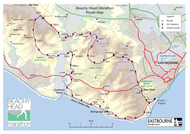 Beachy Head Marathon-Map&Profile-0